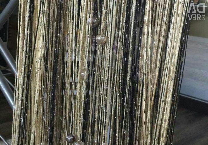 Kisey thread curtains with beads