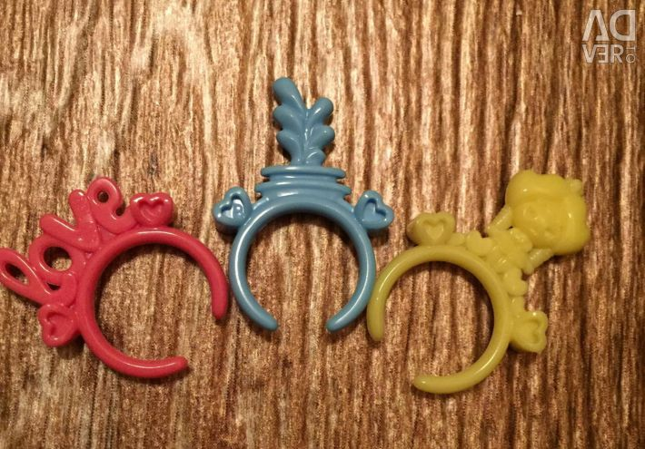 Baby rings 7 pieces