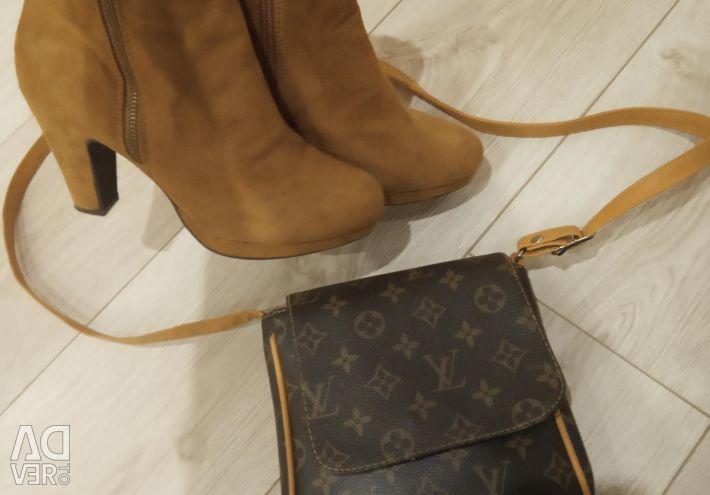 Yarım çizmeler yeni + hediye olarak el çantası