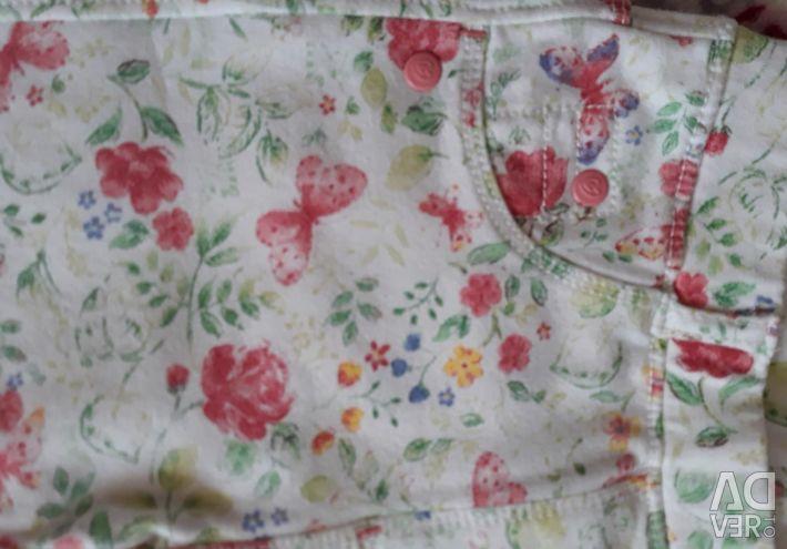 Kızlar için uzun pantolon (92-98)