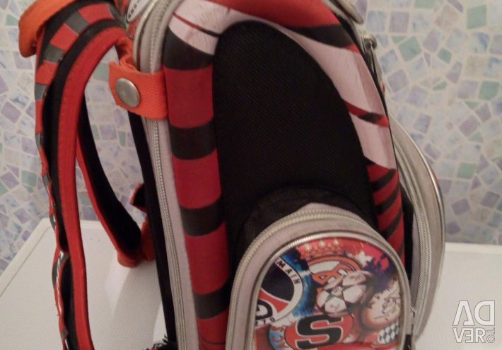 Orthopedic backpack to school.