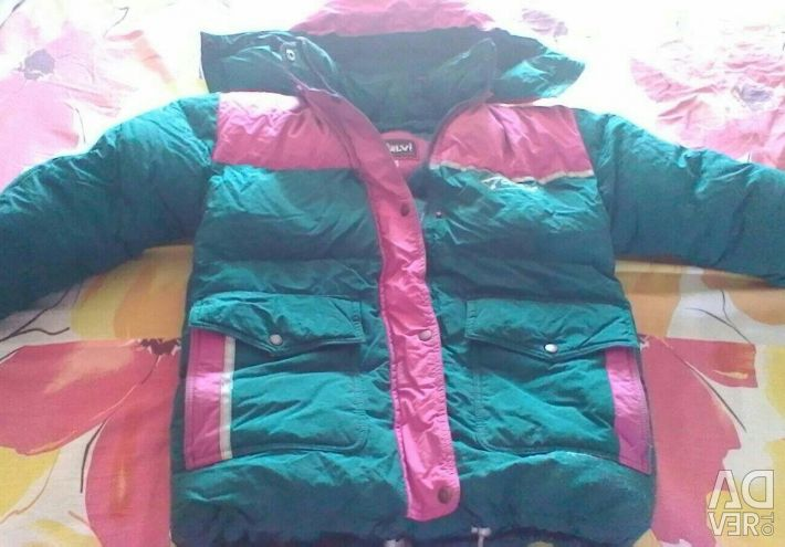 New winter warm down jacket for a boy