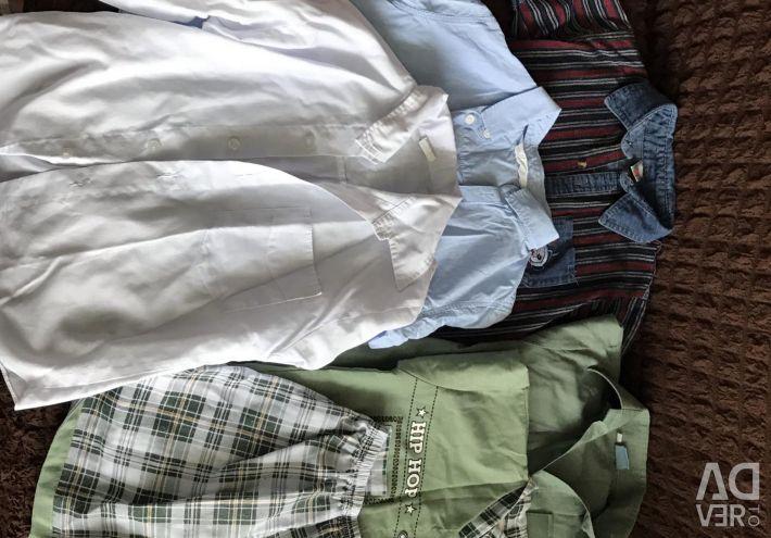 Рубашки для мальчика 6-7 лет