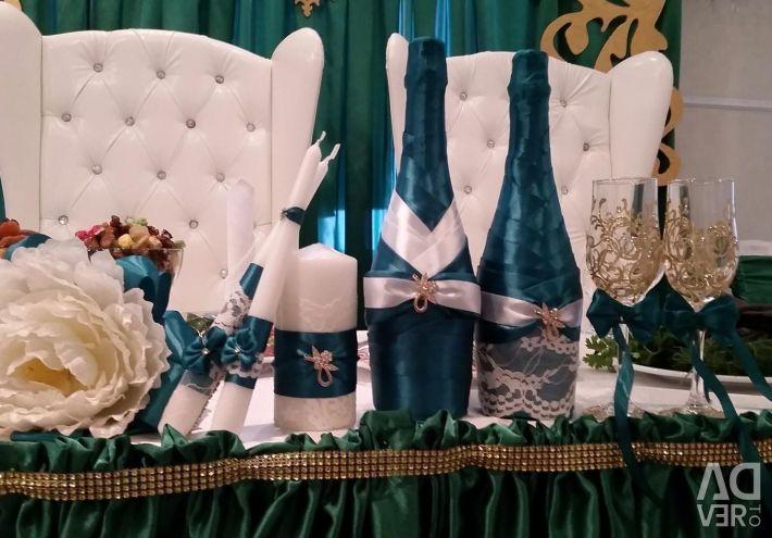 Wedding table, screen, backdrop for the wedding