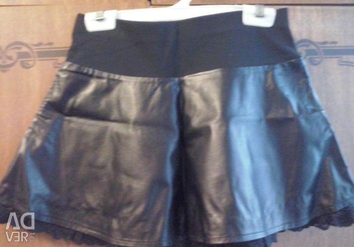 Eco leather skirt