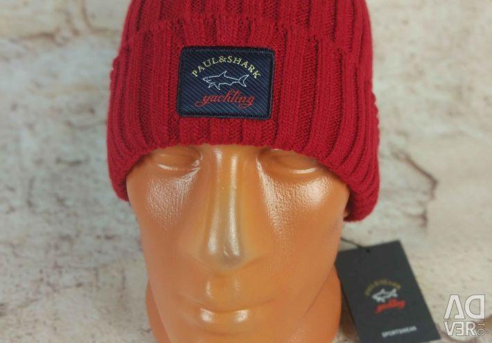 Paul & Shark winter hat (Red)
