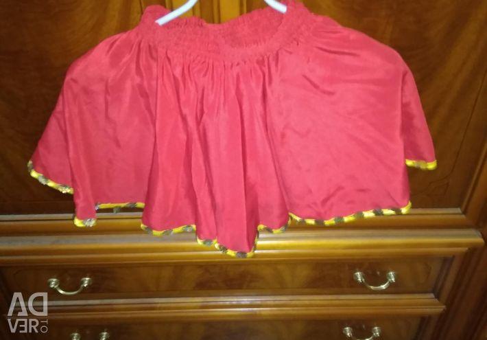 Skirt for folk dances.