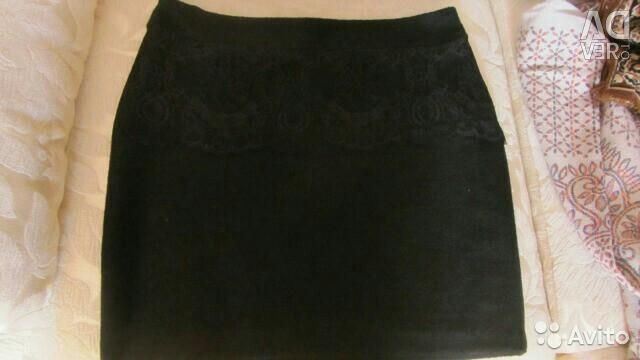 New warm skirt with a lace with a label