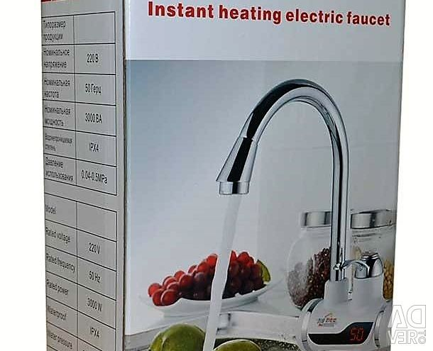 Instantaneous faucet-water heater with display