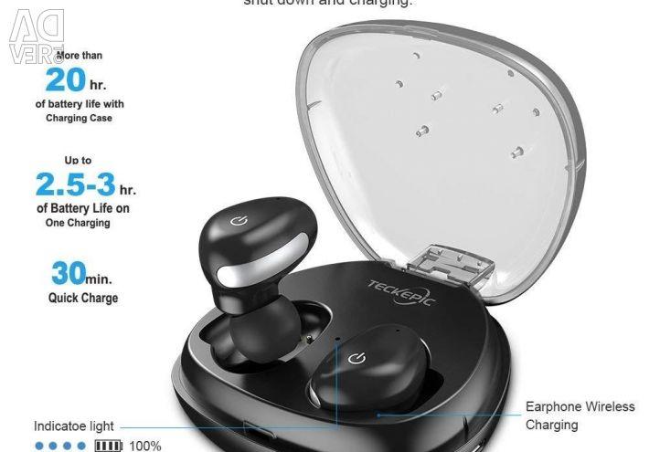 Căști wireless Bluetooth cu protecție la apă.