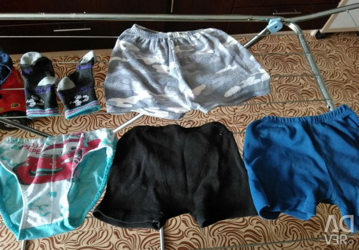 Children's panties and shorts
