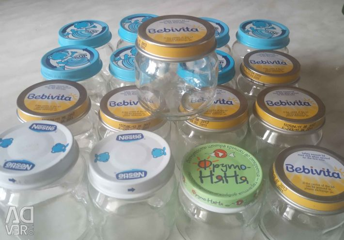 Cans from baby food