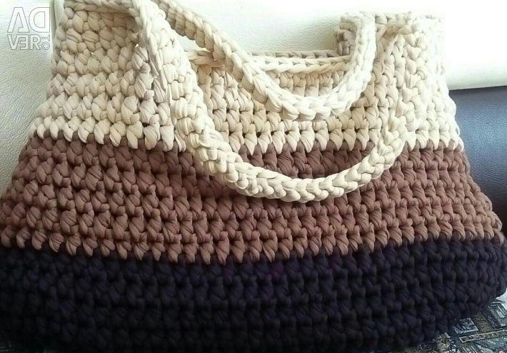 Knitted yarn bag