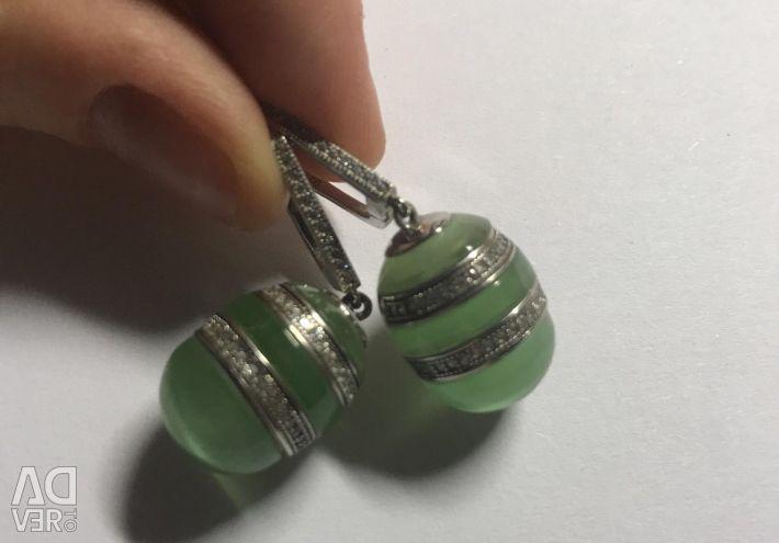Ασημένια σκουλαρίκια
