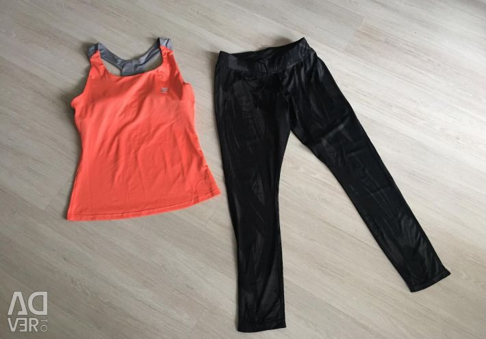 Tights and top for sports