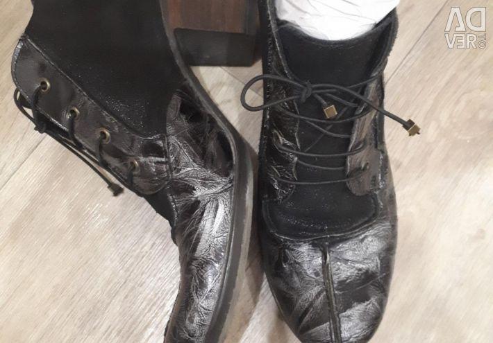 Αγκώνας μπότες natur.lak και nubuck r.38