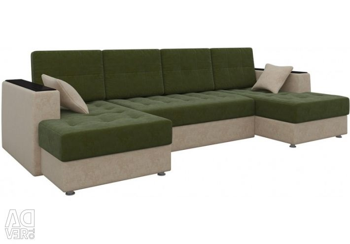 Emir-P sofa (velveteen luxury green beige)