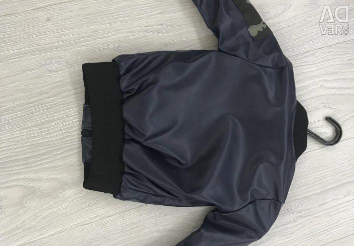 Leather jacket on the boy