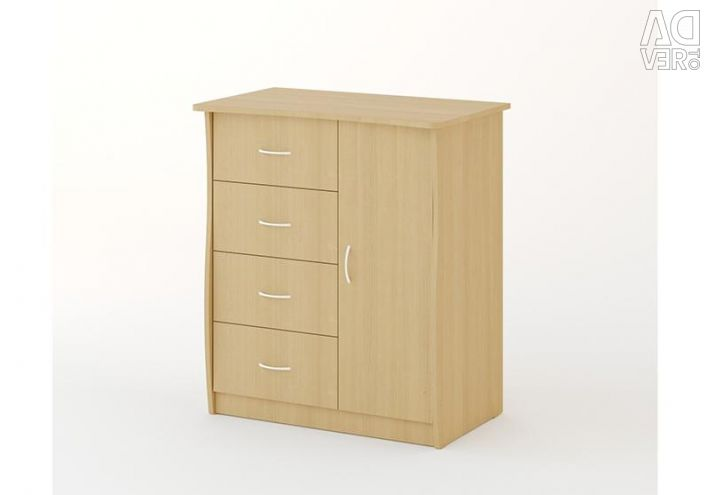 Chest of drawers and door