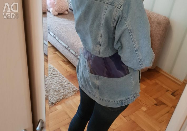 Jeans cu inserții transparente