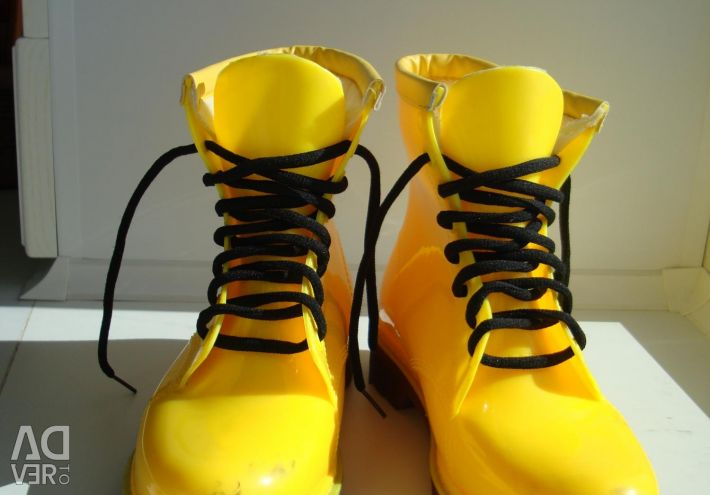 New rubber boots