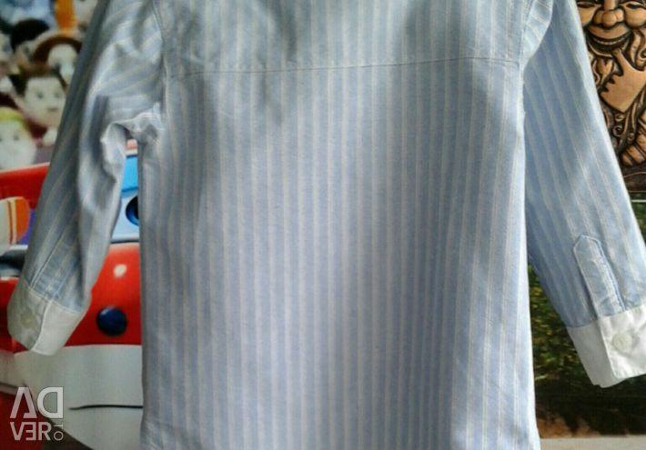 Denim shirt and vest