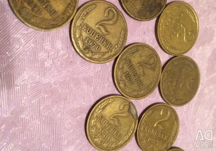 Coin 2 penny ussr