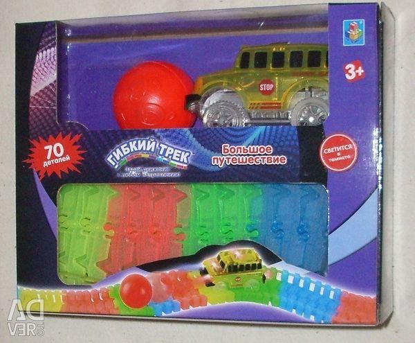 Гнучкі треки від 25 до 210 см з машинкою 1 toy