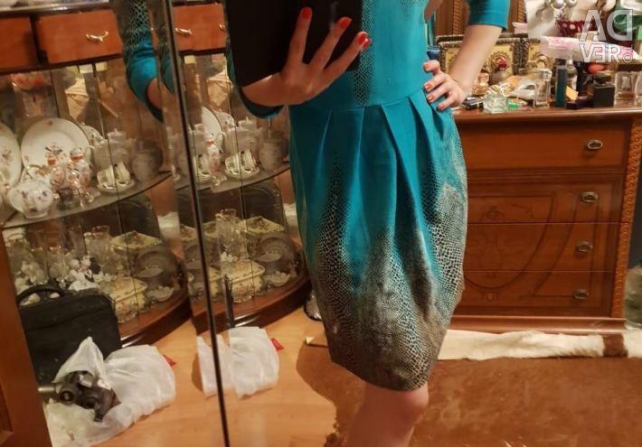 Turquoise Snake Dress