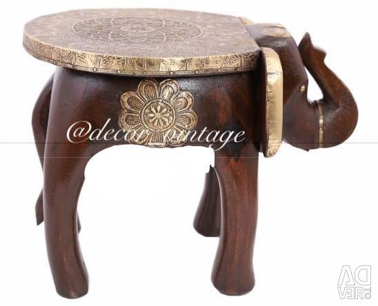 Stool from a file of acacia