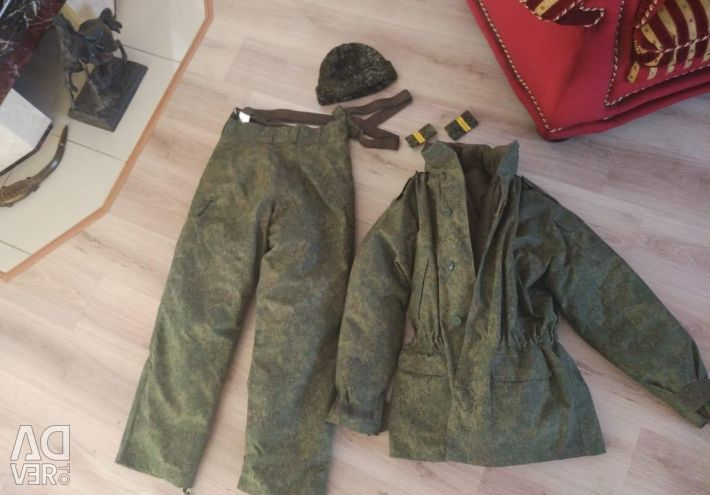 Winter men's military uniform for the military department