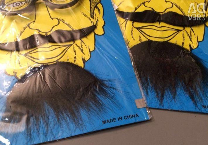 Mustache black and carnival glasses