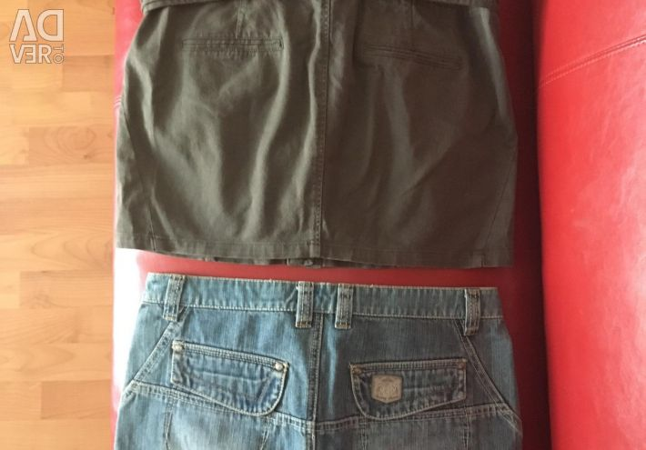 Denim skirts for two pieces