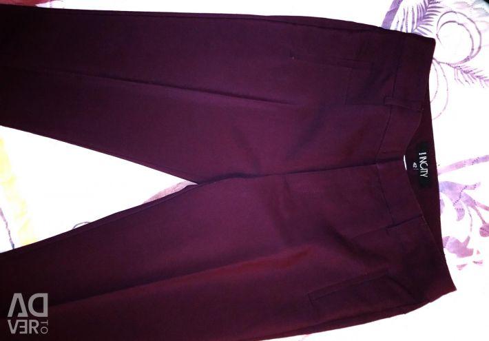 Trousers INCITY Eggplant
