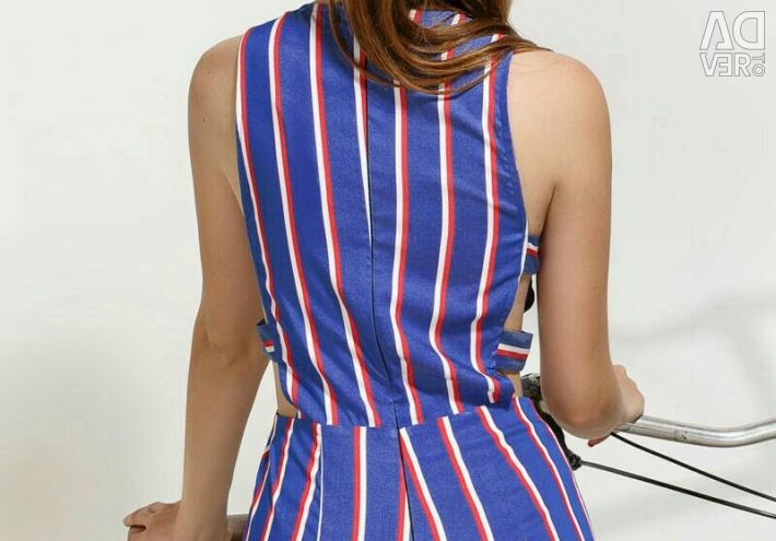 Overalls in stripes