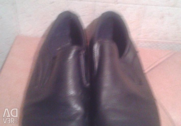 Black Centr Shoes, Genuine Leather, R. 37