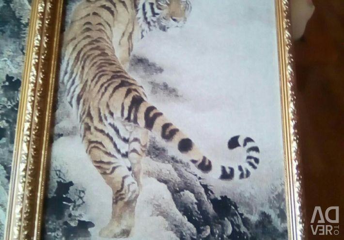 Tablouri de tapiserie într-o baghetă