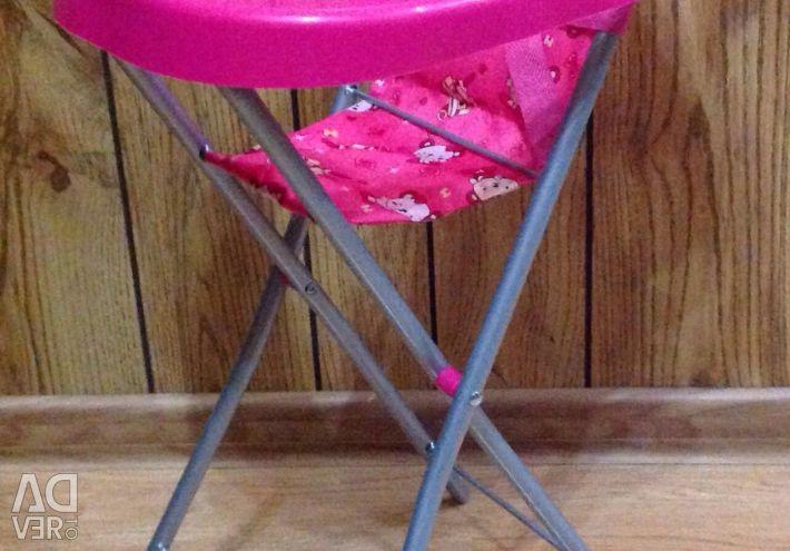 New doll feeding chairs