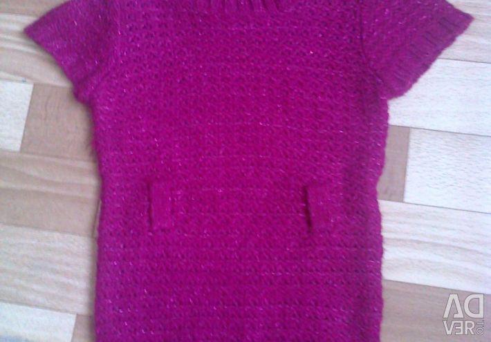 Knitted vest for girls