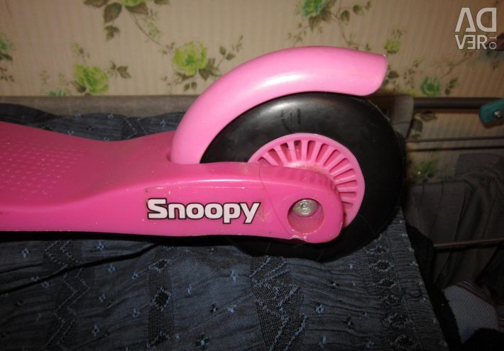 Three-wheel scooter SNOOPY pink