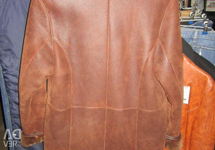 Sheepskin coat female sheepskin natural r46-48