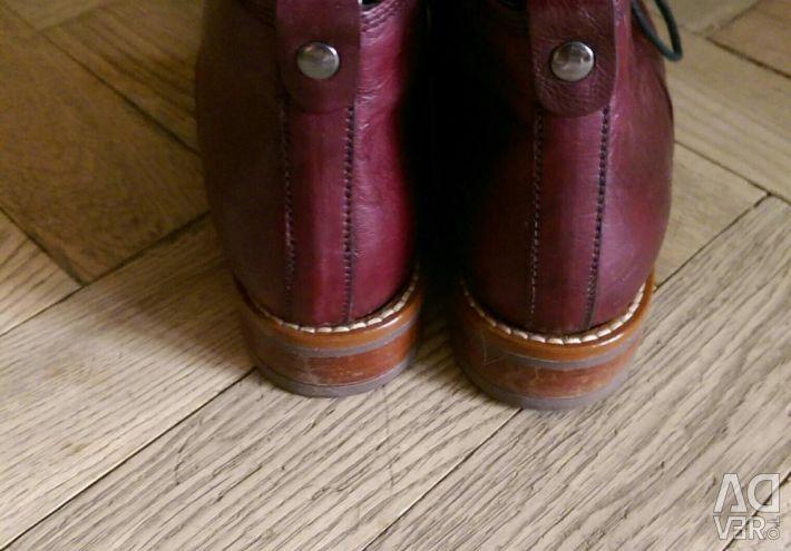 Μπότες δερμάτινο φθινόπωρο 36 rr.
