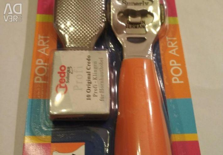 Tool for removing hardened skin