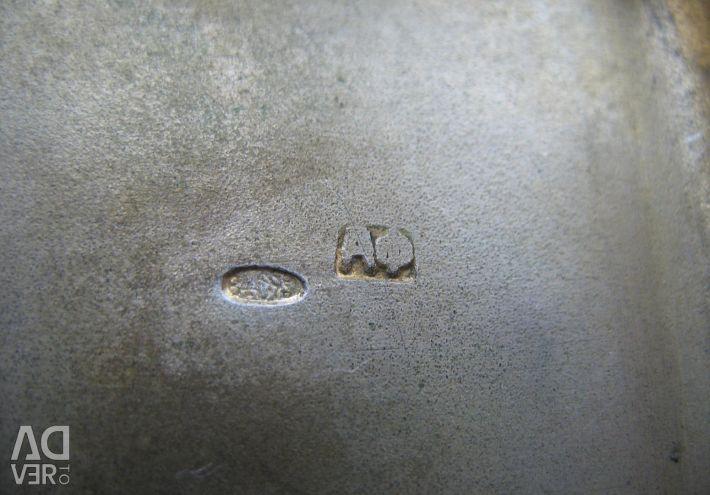 Αρχαία θήκη για πούρα από ασήμι 84