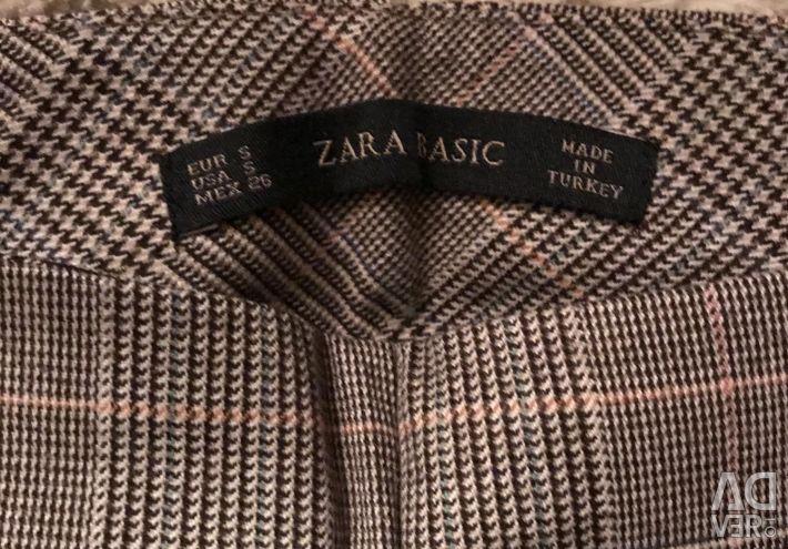 Брюки в клетку укороченные Zara