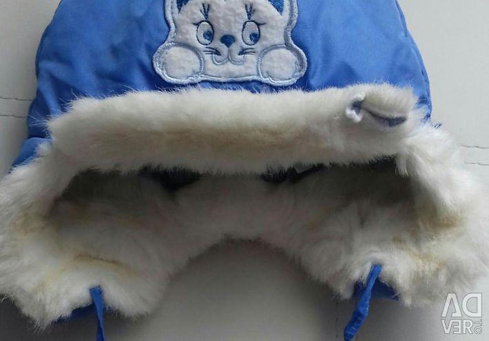 Overalls transformer on sheepskin cap as a gift