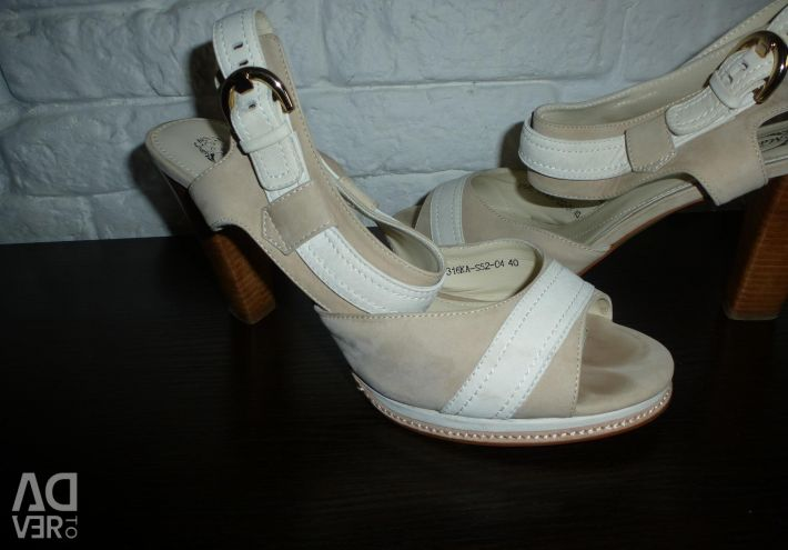 Sandals Italy leather / suede 40 r