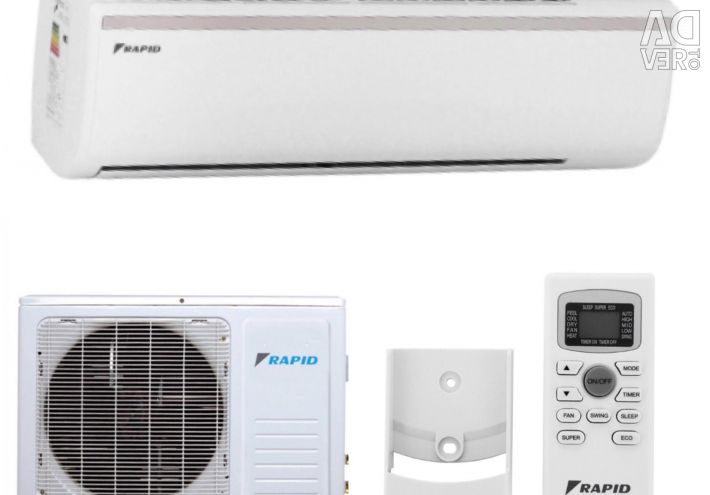New Split system, air conditioning up to 21m.