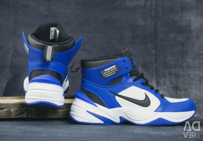 Adidași Nike M2K Tekno Mid Leather PRM albastru / alb