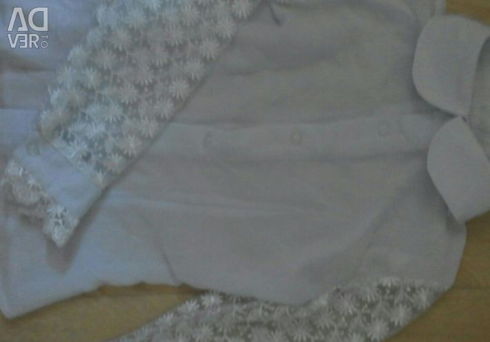 School skirt and blouse.